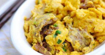 Cách làm trứng xào thịt bò thơm ngon bổ dưỡng cực đơn giản