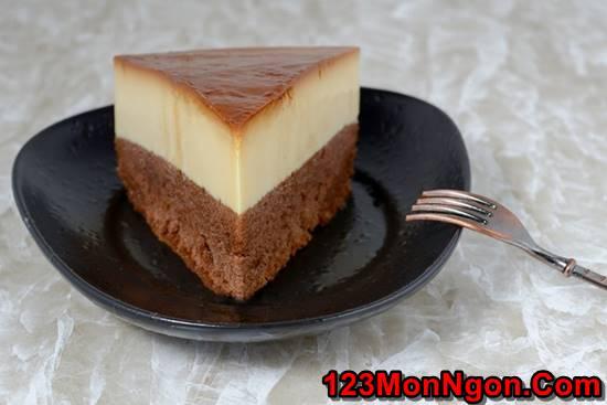 Cách làm bánh flan bông lan vị Chocolate đậm đà béo ngậy cực ngon miệng phần 11