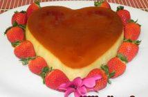 Cách làm bánh flan hình trái tim thơm ngon đẹp mắt tặng người thương
