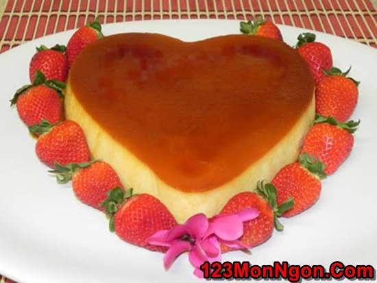 Cách làm bánh flan hình trái tim thơm ngon đẹp mắt tặng người thương phần 1