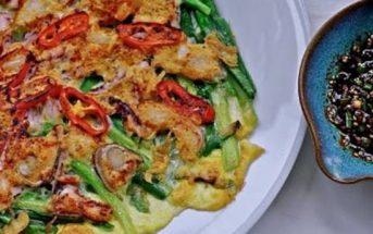 Cách làm bánh xèo hải sản Hàn Quốc cay thơm hấp dẫn ngon tuyệt vời
