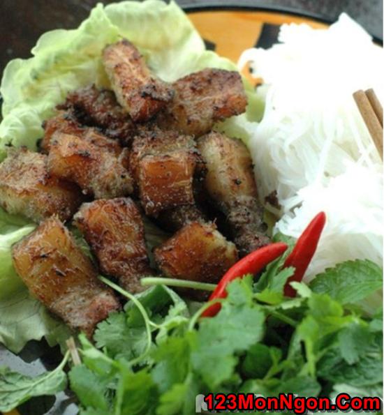 Cách làm bún thịt nướng riềng thơm lừng hấp dẫn cực ngon đổi vị cuối tuần phần 1