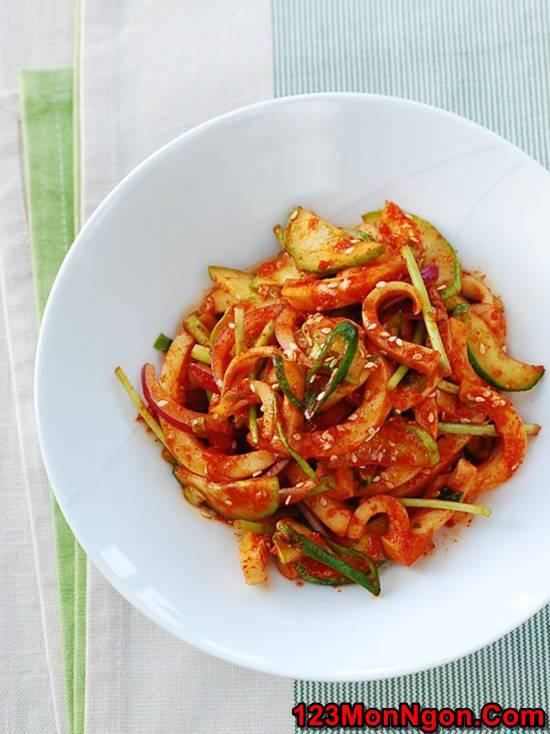 Cách làm món Salad mực kiểu Hàn Quốc thơm ngon bổ dưỡng cực hấp dẫn phần 6