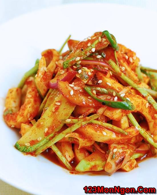 Cách làm món Salad mực kiểu Hàn Quốc thơm ngon bổ dưỡng cực hấp dẫn phần 7