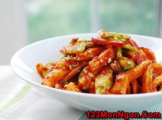 Cách làm món Salad mực kiểu Hàn Quốc thơm ngon bổ dưỡng cực hấp dẫn phần 8