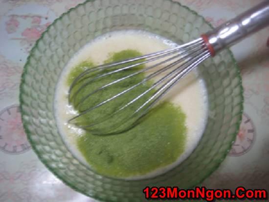 Cách làm bánh flan trà xanh caramel mềm thơm ngon mát giải nhiệt ngày hè phần 7