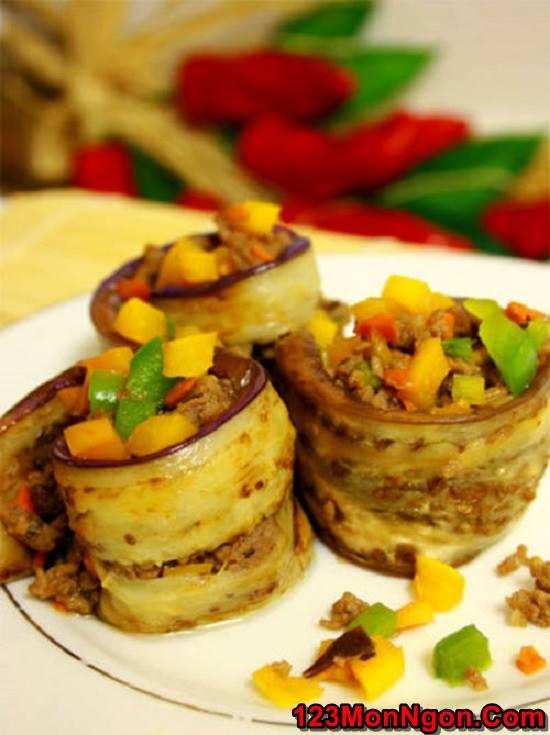 Cách làm món cà tím cuốn thịt nướng thơm ngon hảo hạng cực hấp dẫn phần 12