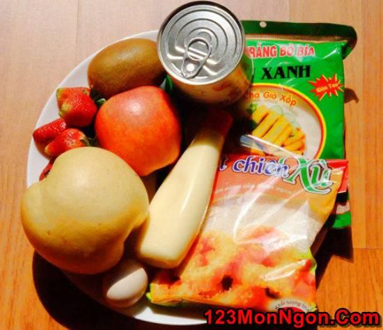 Cách làm món nem chay hoa quả lạ miệng đơn giản giòn ngon phần 2