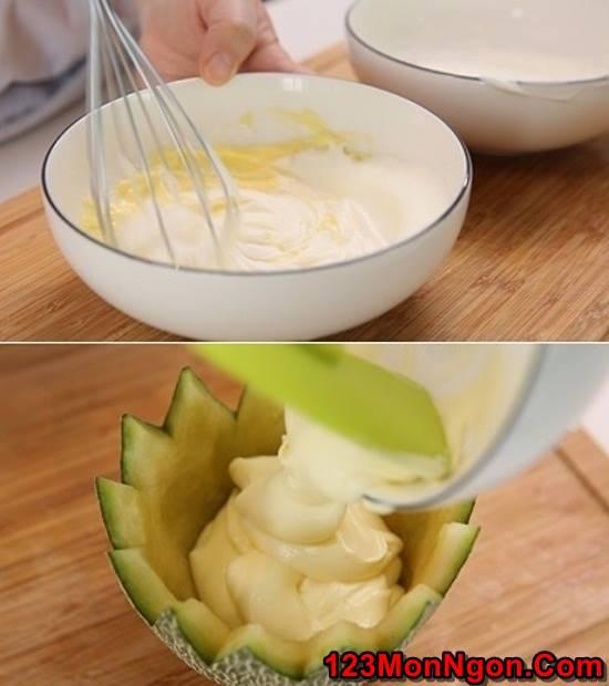 Cách làm mousse dưa lưới mát bổ thơm ngon tráng miệng trưa hè phần 6