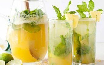 Cách làm sinh tố dứa chanh mát lạnh bổ dưỡng cực ngon