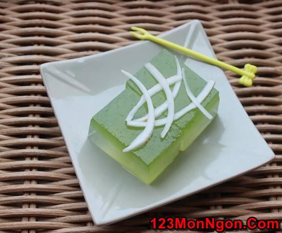 Cách làm thạch dừa lá dứa tươi mát thơm ngon ăn là ghiền phần 1