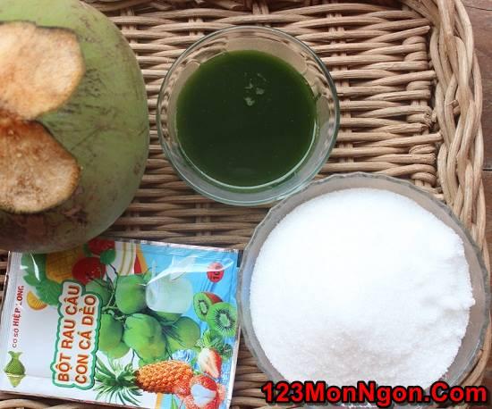 Cách làm thạch dừa lá dứa tươi mát thơm ngon ăn là ghiền phần 2