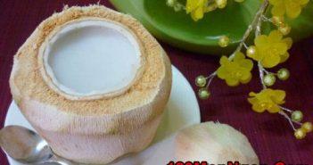 Cách làm thạch dừa xiêm thơm ngọt mát lạnh cực ngon đã khát ngày hè