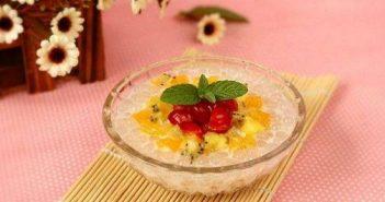 Cách nấu chè trân châu hoa quả thơm ngon độc đáo giải nhiệt ngày hè