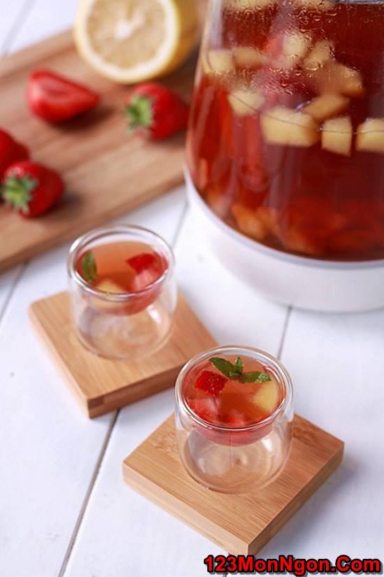 Cách pha trà trái cây mát lạnh thơm ngon bổ dưỡng phần 1