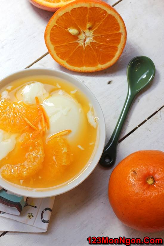 Công thức nấu chè cam tào phớ mới lạ thơm ngon giải nhiệt ngày hè phần 11