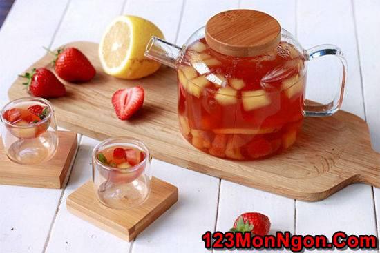 Hướng dẫn pha chế trà trái cây thơm mát ngon miệng giải nhiệt ngày hè phần 1