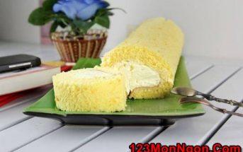 Bật mí cách làm bánh bông lan cuộn kem mềm mại béo thơm ngon tuyệt cú mèo