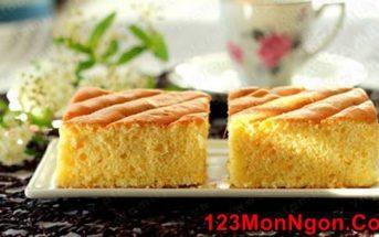 Cách làm bánh bông lan cam tươi mềm ngon cực hấp dẫn cho bé