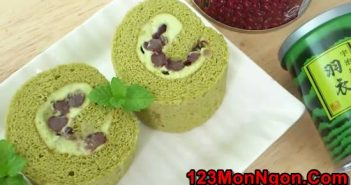 Cách làm bánh bông lan cuộn trà xanh thơm mát ngon tuyệt khó cưỡng nổi