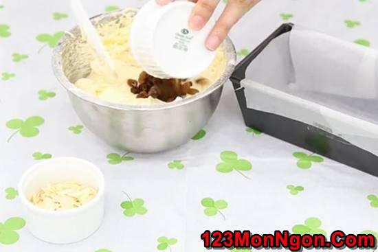 Cách làm bánh bông lan nho khô thơm béo ngon miệng ăn là ghiền phần 4