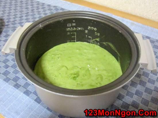 Cách làm bánh bông lan trà xanh bằng nồi cơm điện mềm xốp thơm ngon phần 5