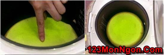 Cách làm bánh bông lan trà xanh bằng nồi cơm điện mềm xốp thơm ngon phần 6