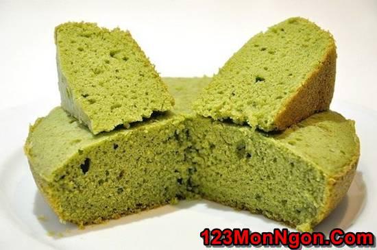 Cách làm bánh bông lan trà xanh bằng nồi cơm điện mềm xốp thơm ngon phần 7