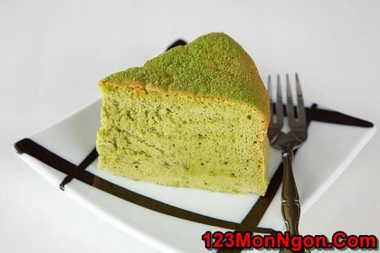 Cách làm bánh bông lan trà xanh bằng nồi cơm điện mềm xốp thơm ngon phần 8
