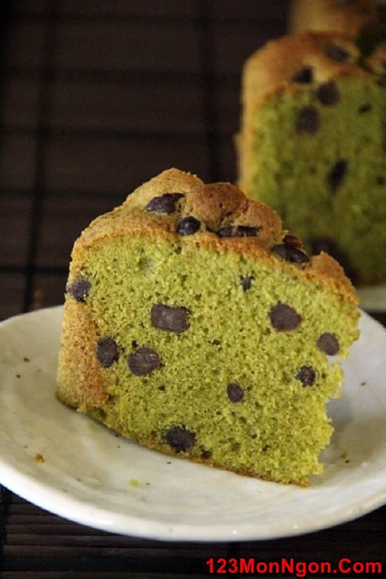 Cách làm bánh bông lan trà xanh bằng nồi cơm điện mềm xốp thơm ngon phần 9