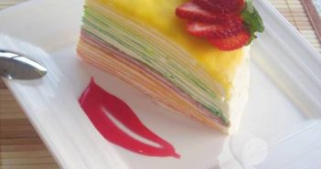 Cách làm bánh kem 7 màu đẹp mắt thơm ngon khó chối từ