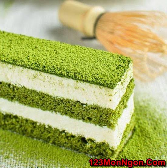 Cách làm bánh kem trà xanh thơm mát đẹp mắt ngon tuyệt cú mèo phần 1