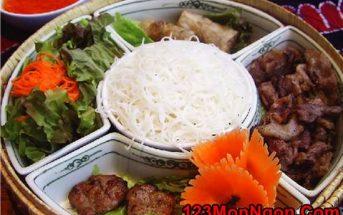 Cách làm bún thịt nướng thơm lừng ngon đúng vị Hà Nội
