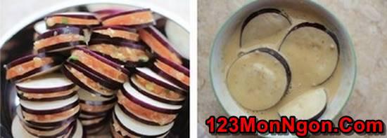 Cách làm cà tím kẹp thịt chiên giòn đơn giản thơm ngon đổi vị cuối tuần phần 4