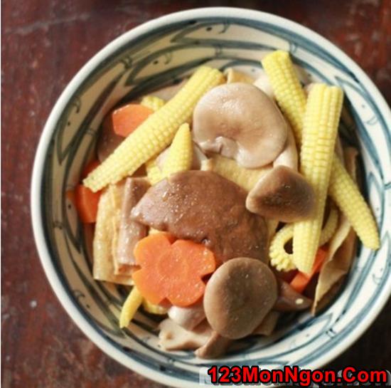 Cách làm món nấm xào rau củ thanh đạm bổ dưỡng cho ngày ăn chay phần 1