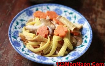 Cách làm món nấm xào rau củ thanh đạm bổ dưỡng cho ngày ăn chay