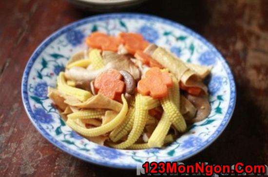 Cách làm món nấm xào rau củ thanh đạm bổ dưỡng cho ngày ăn chay phần 10