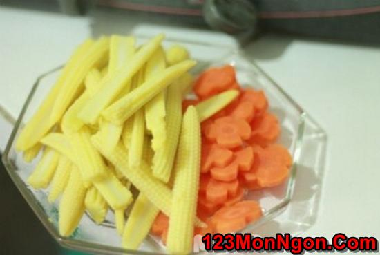Cách làm món nấm xào rau củ thanh đạm bổ dưỡng cho ngày ăn chay phần 4
