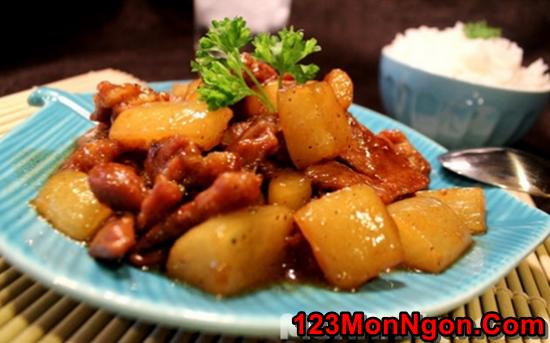 Cách làm món thịt lợn kho củ cải đậm đà thơm ngon đưa cơm ngày mưa phần 1