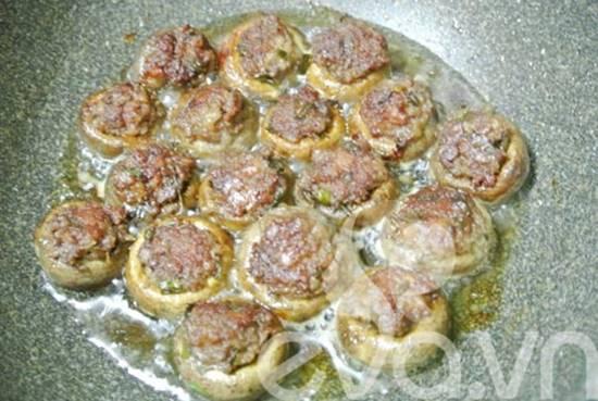 Cách làm nấm mỡ nhồi thịt mới lạ thơm ngon khó cưỡng phần 5