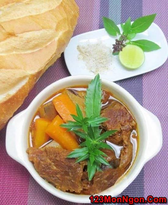 Cách nấu bò kho bò sốt vang đậm đà ngon ngất ngây cho bữa sáng phần 4