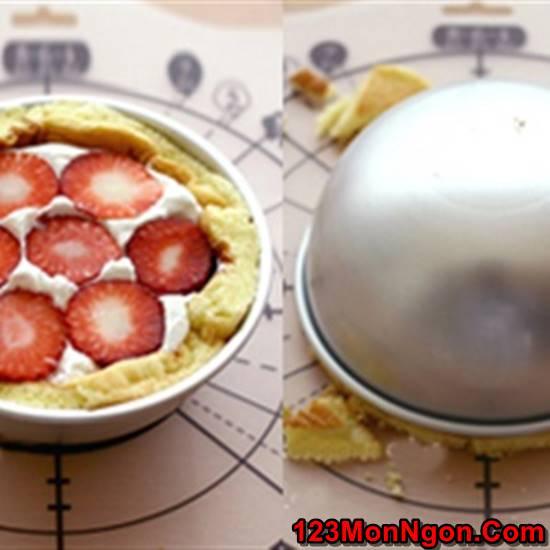 Vào bếp làm bánh bông lan dâu tây ngọt thơm hấp dẫn cực ngon phần 8
